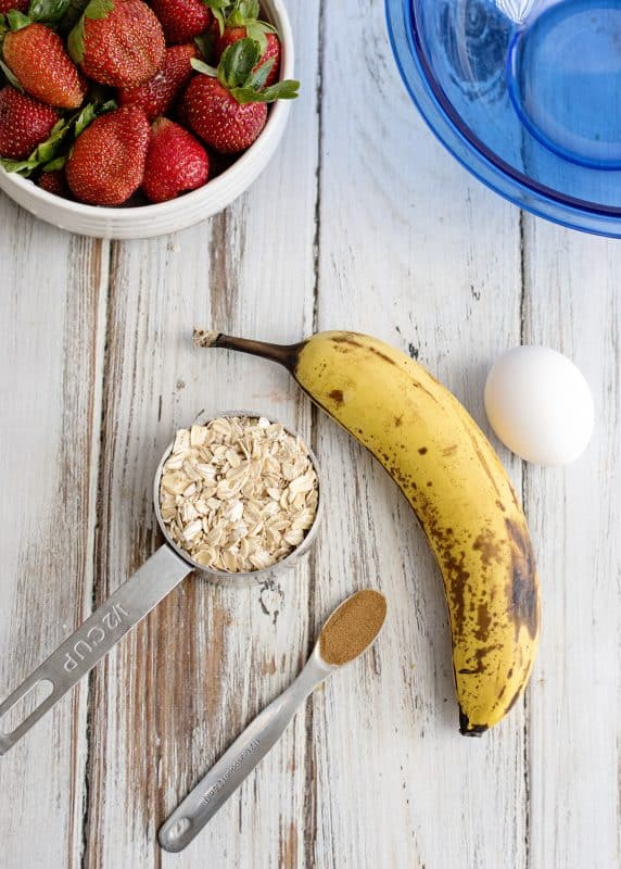 Ingredients for Banana Pancakes - Healthy, Quick, Simple, Delicious!
