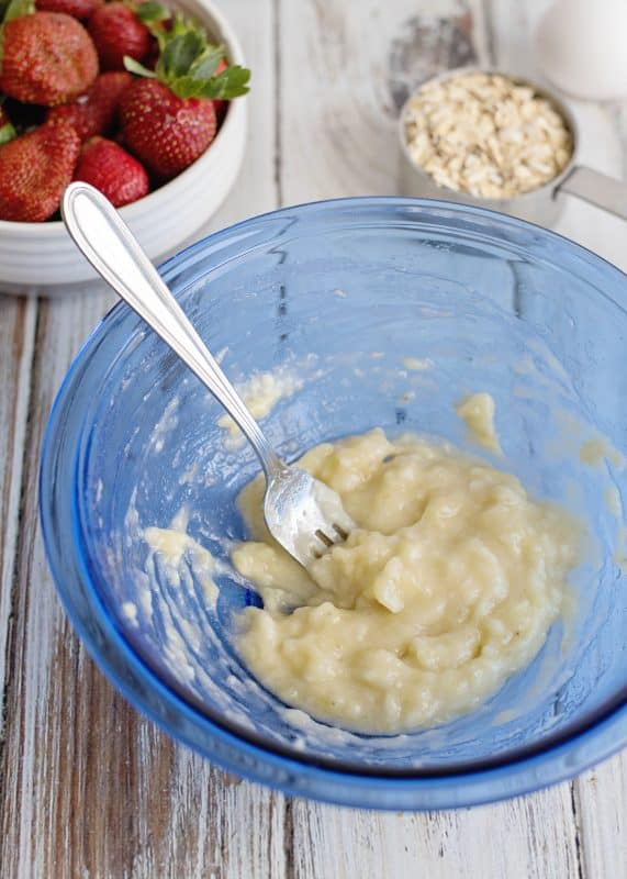 Mixing Batter for Banana Pancakes - Healthy, Quick, Simple, Delicious!