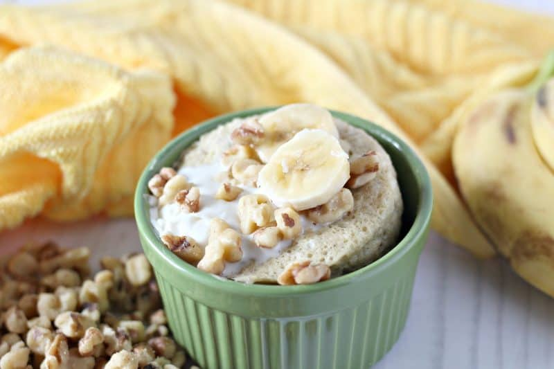 Low Sugar Banana Mug Cake