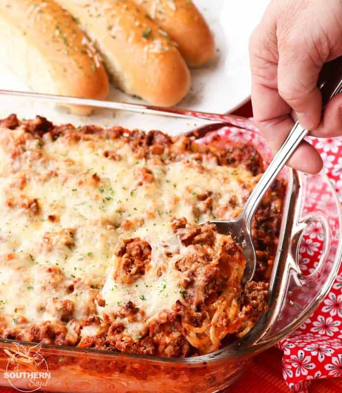 Meal Plan Monday #151 Out Of This World Baked Spaghetti
