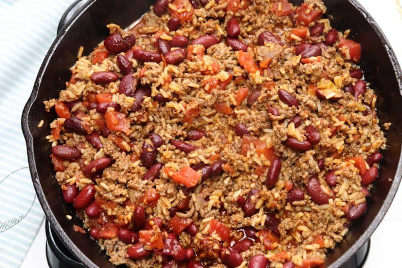 One Skillet Chili Bake
