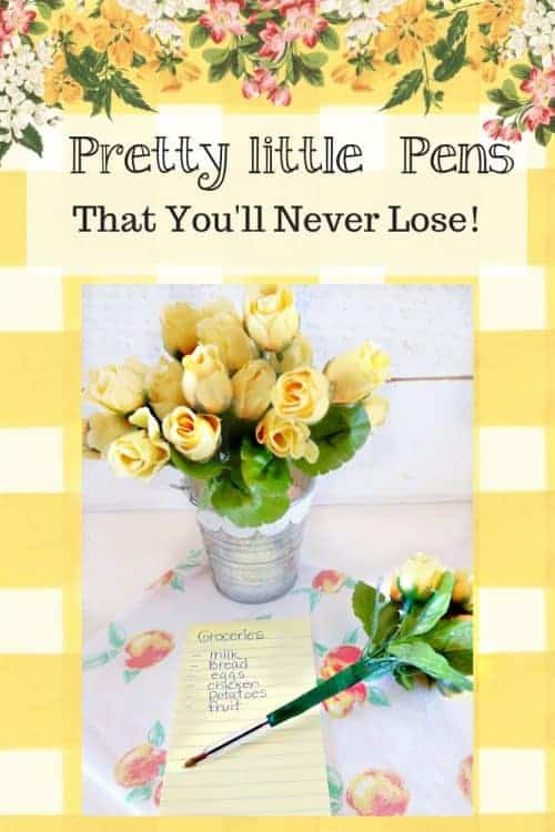 Pretty Little Pens! A spring craft from Sugar Pie Farmhouse