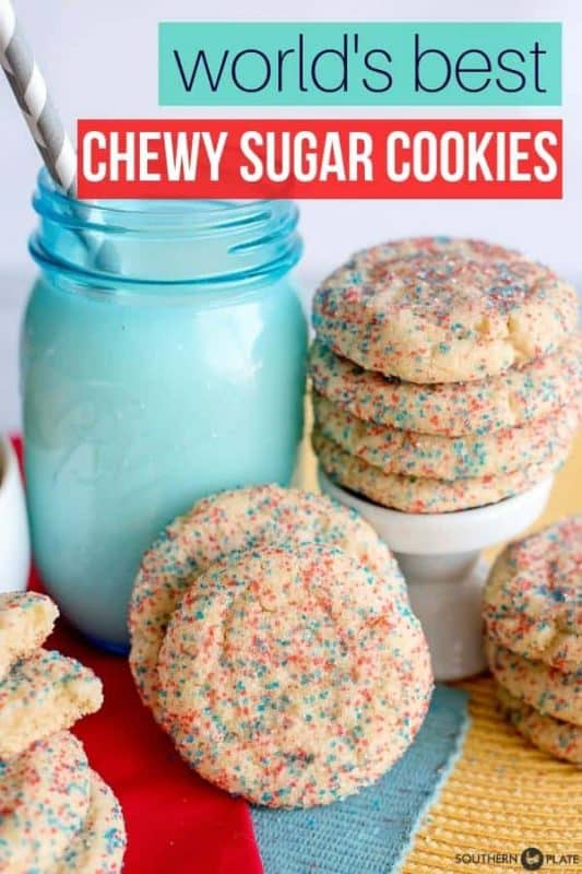 World's Best Chewy Sugar Cookies