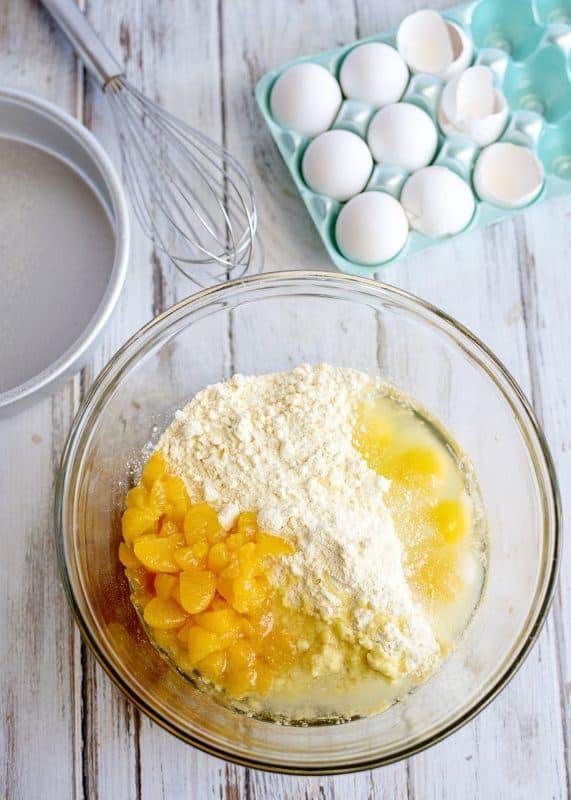 Mixing up Mandarin Orange Pig Picking Cake