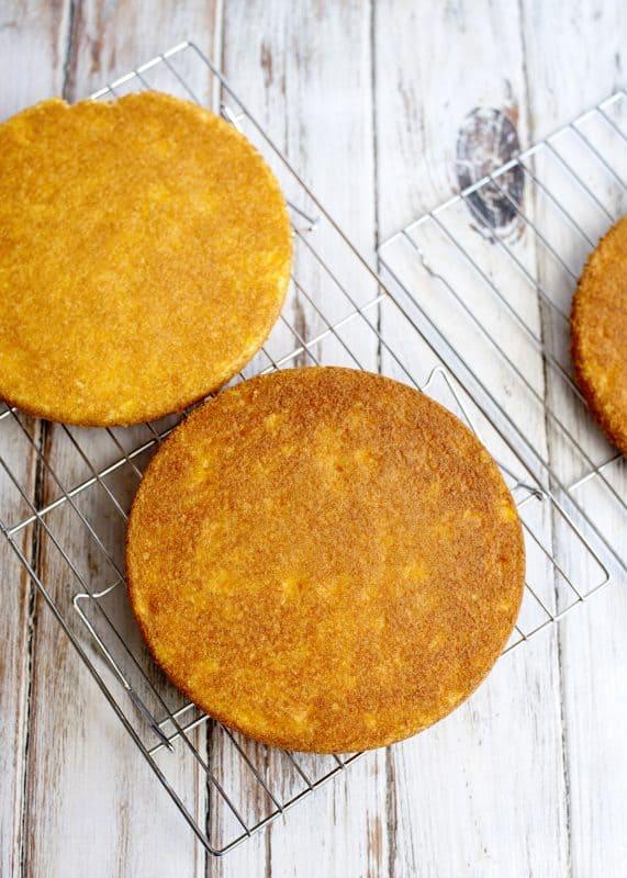 Cooling Cakes for Mandarin Orange Pig Picking Cake