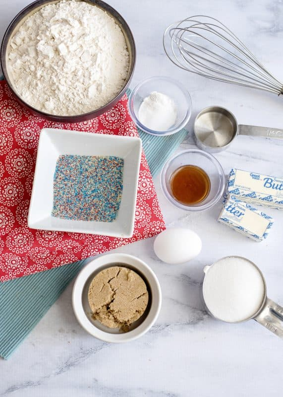 Ingredients For World's Best Chewy Sugar Cookies