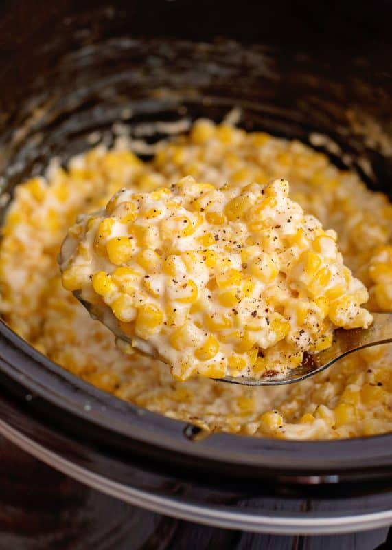 Dishing Up Crock Pot Creamed Corn