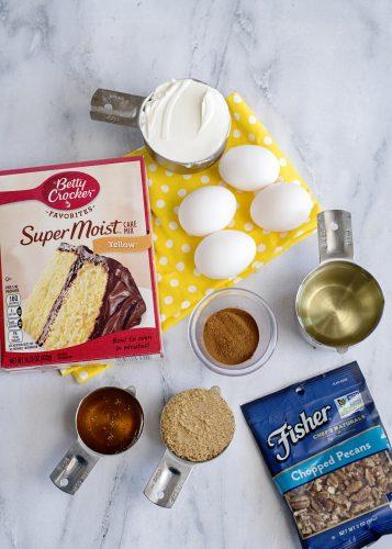 Ingredients for Honey Bun Cake