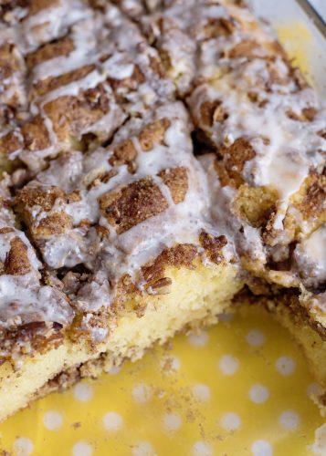Warm Honey Bun Cake