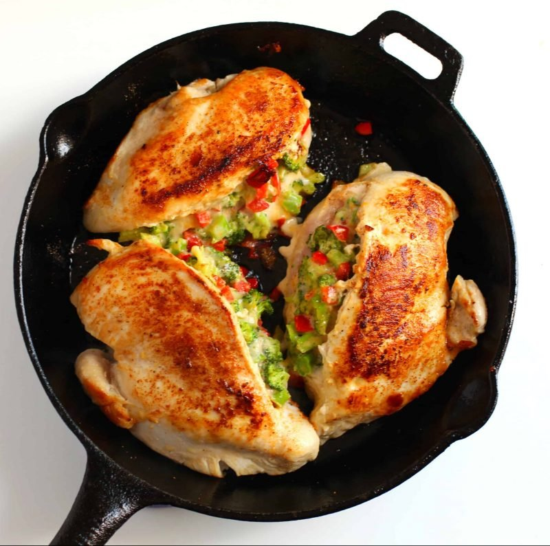 Low Carb Broccoli Cheese Stuffed Chicken