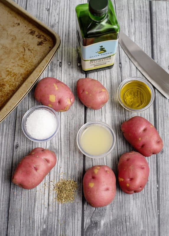 Ingredients for Big Fat Greek Taters