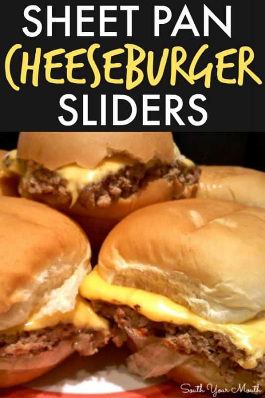 sheet pan cheeseburger sliders