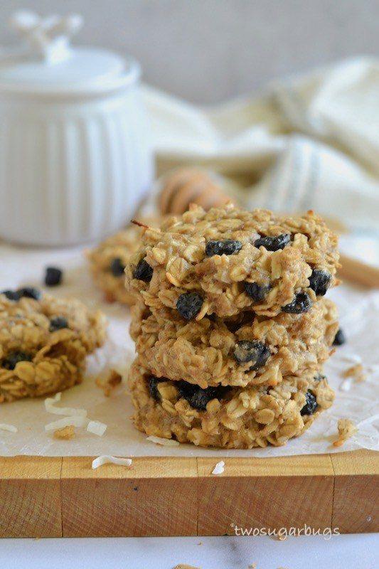 breakfast cookies stacked up