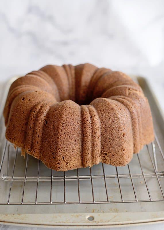 Grandmama's Chocolate Pound Cake with Fudge Glaze
