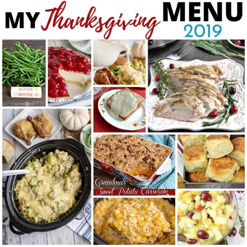 My Thanksgiving Menu 2019