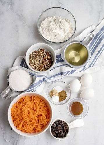 Ingredients for Carrot Cake Loaf