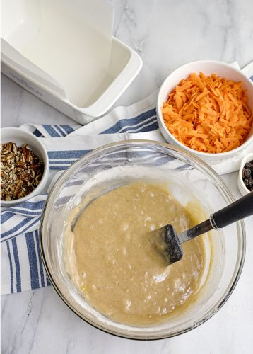 Batter for Carrot Cake Loaf