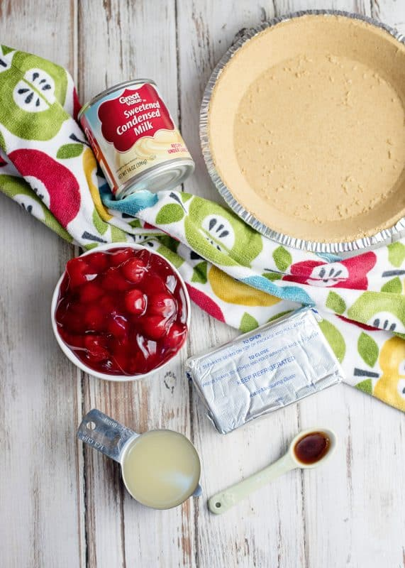 Ingredients For Cherry Cream Cheese Pie