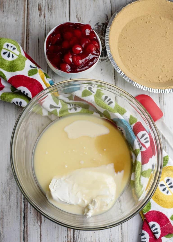 Cherry Cream Cheese Pie Almost ready!