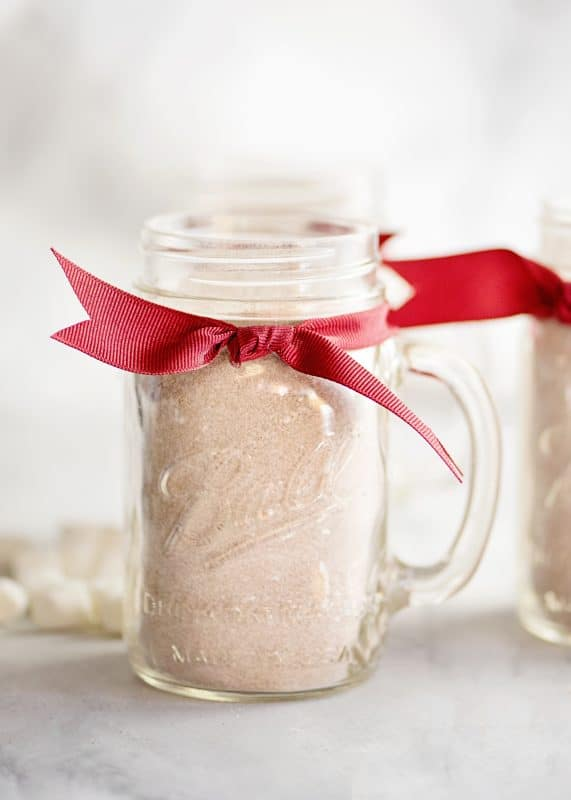 Homemade Hot Chocolate Mix In A Pretty Jar