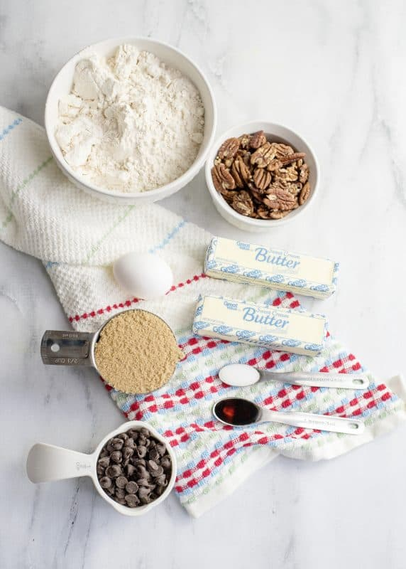 ingredients for cookie dough