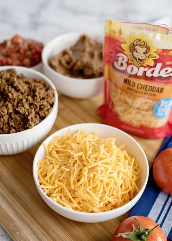 ingredients for buritto