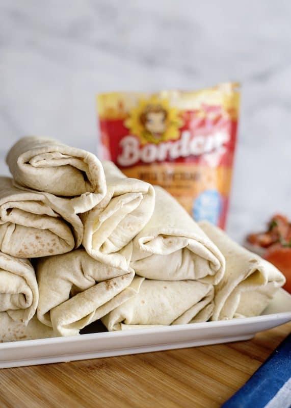 platter of burrito