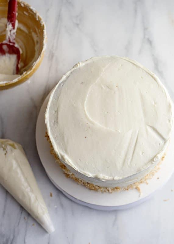 Icing Jyl's Italian Cream Cake