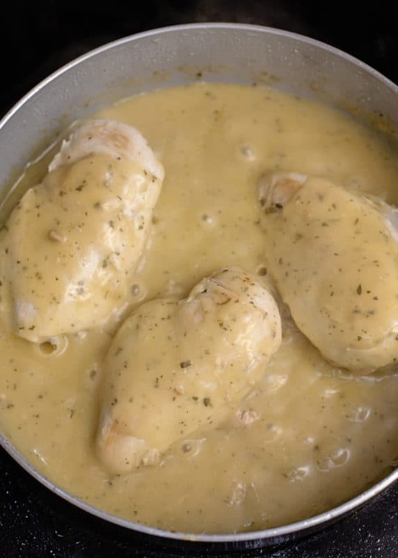Chicken in Sauce in Skillet