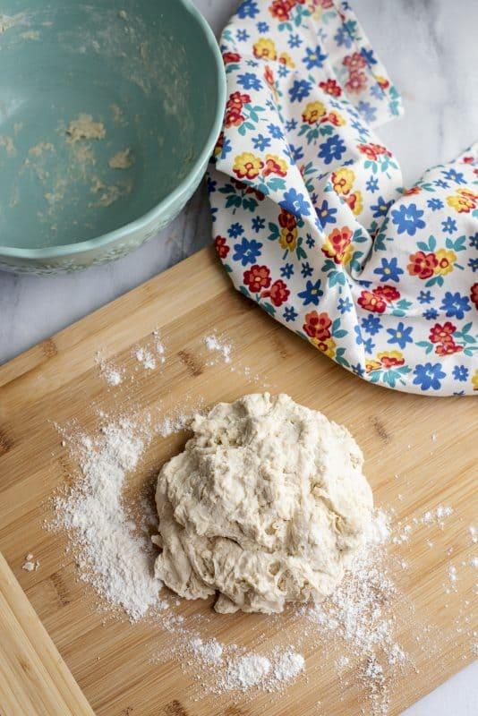 making dough for tortillas
