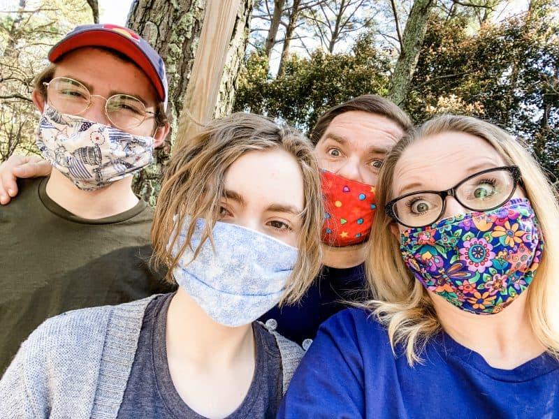 Jordan Family masked