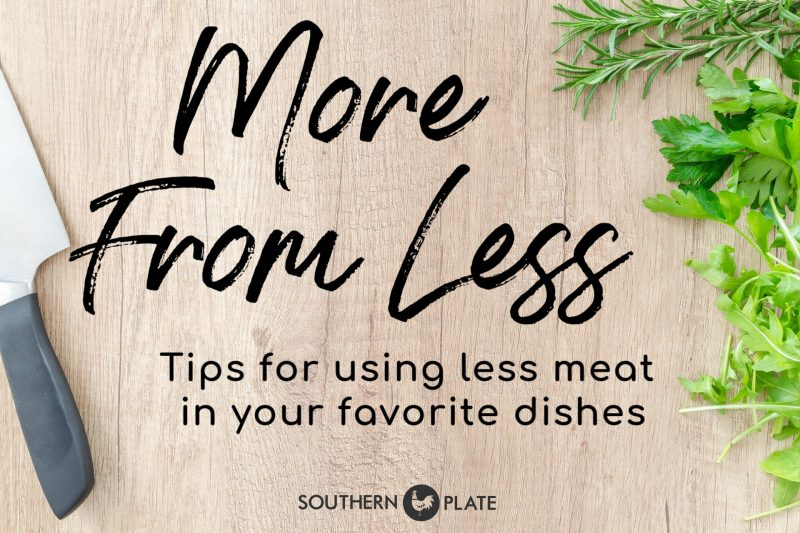 Less meat dishes