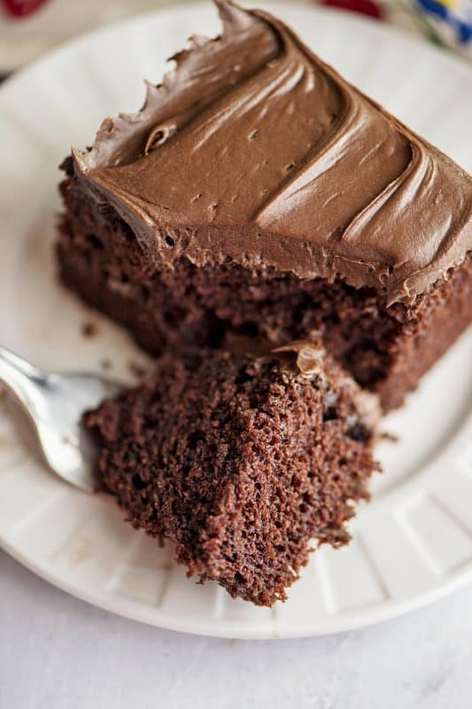 Chocolate Depression Wacky Cake - No Milk or Eggs!