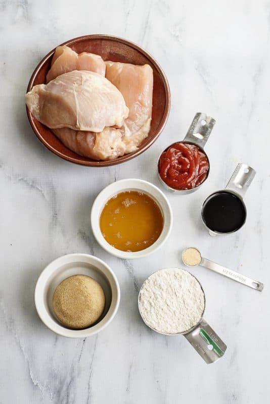 Sticky Chicken Ingredients