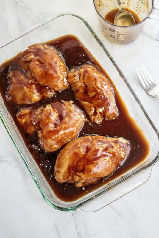 Sticky Chicken Ready for Oven