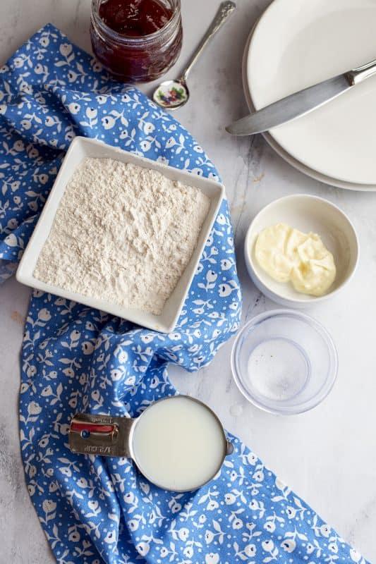 Ingredients for Ten Minute Rolls