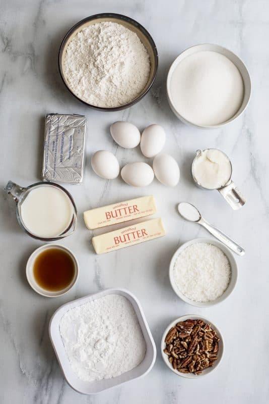 Italian Cream Cake Ingredients