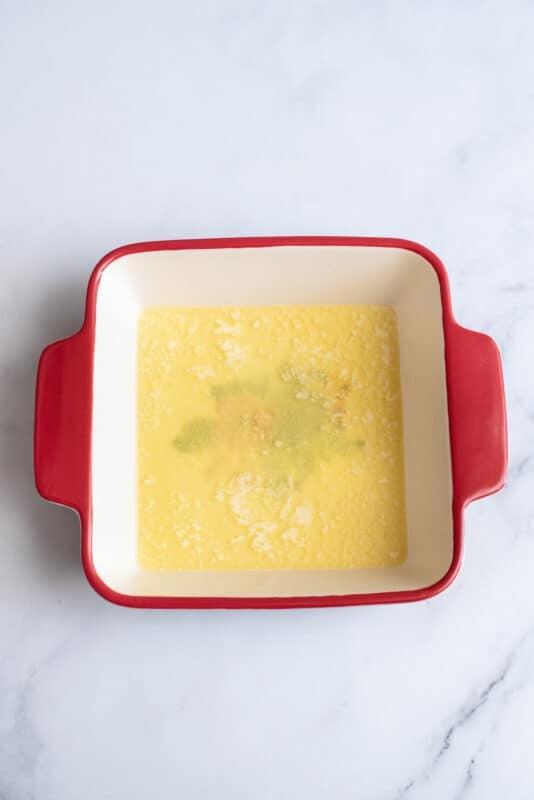 melt the butter for the berry cobblerr