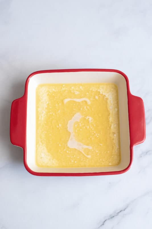 butter will float on top Don't stir
