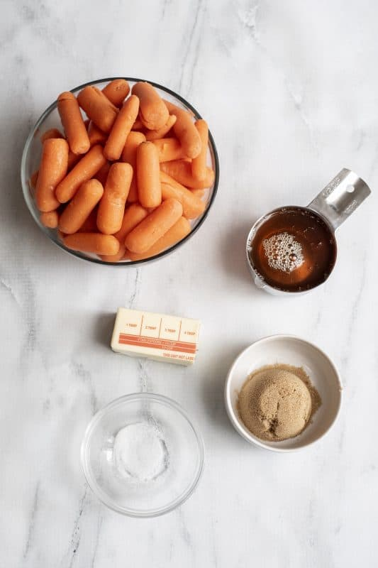 Candied carrot ingredients