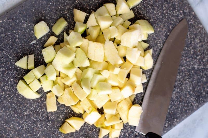 peel and chop apples
