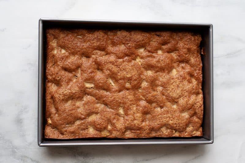 caramel apple cake baked