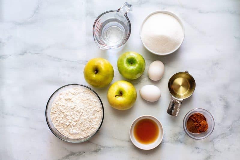 caramel apple cake ingredients
