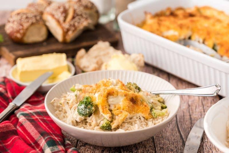 chicken Divan casserole Southern plate