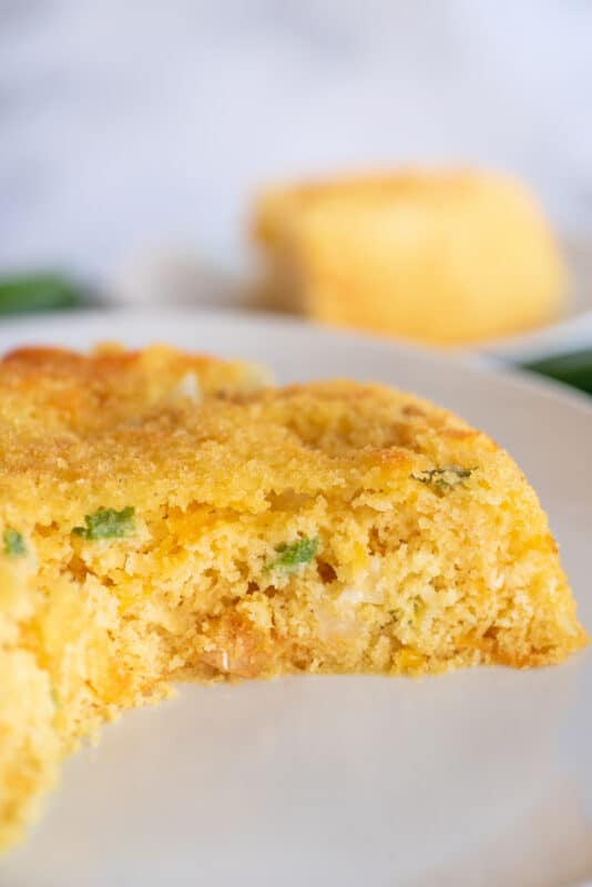 mexican cornbread with diced peppers