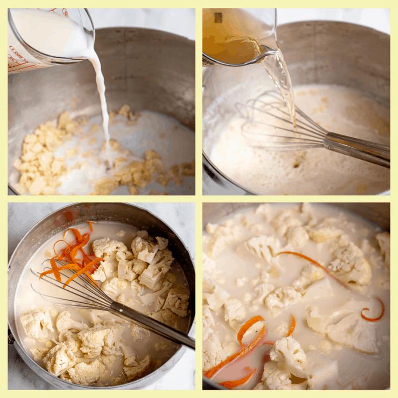 steps for cauliflower soup