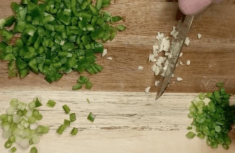 Peel and mince garlic