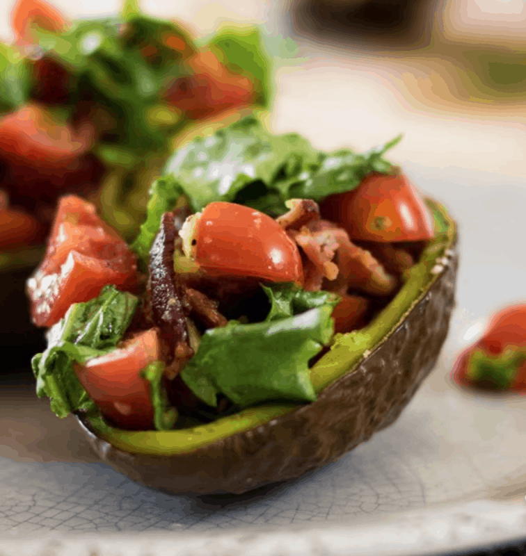 baked BLT avocado at Meal Plan Monday 246