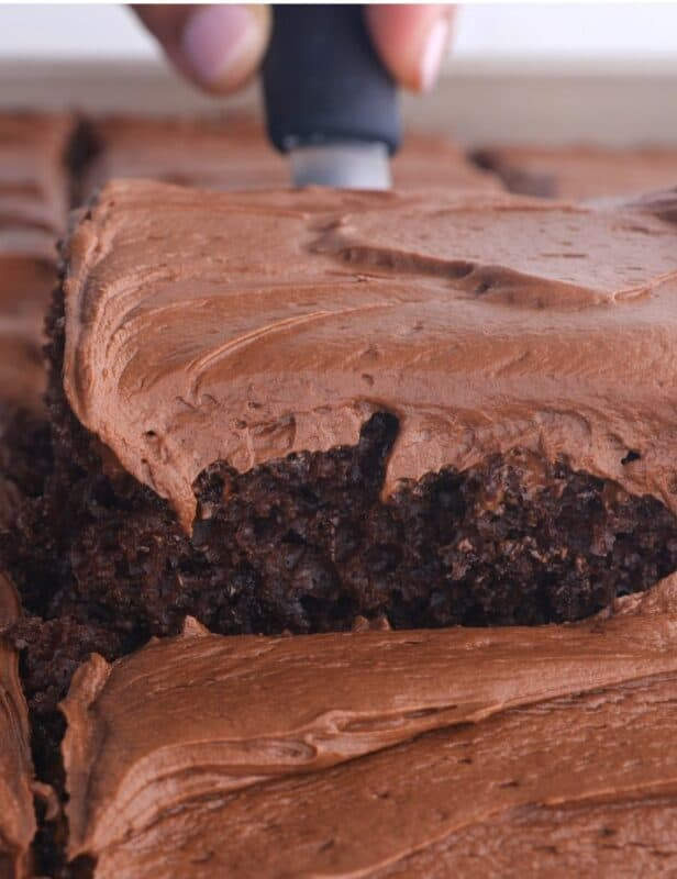 creamy chocolate frosting vertical
