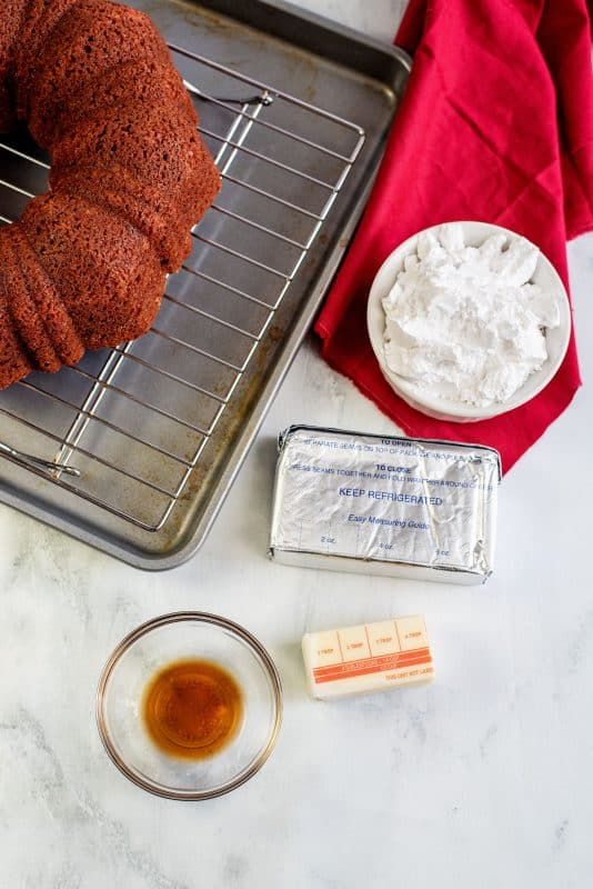 ingredients cream cheese frosting